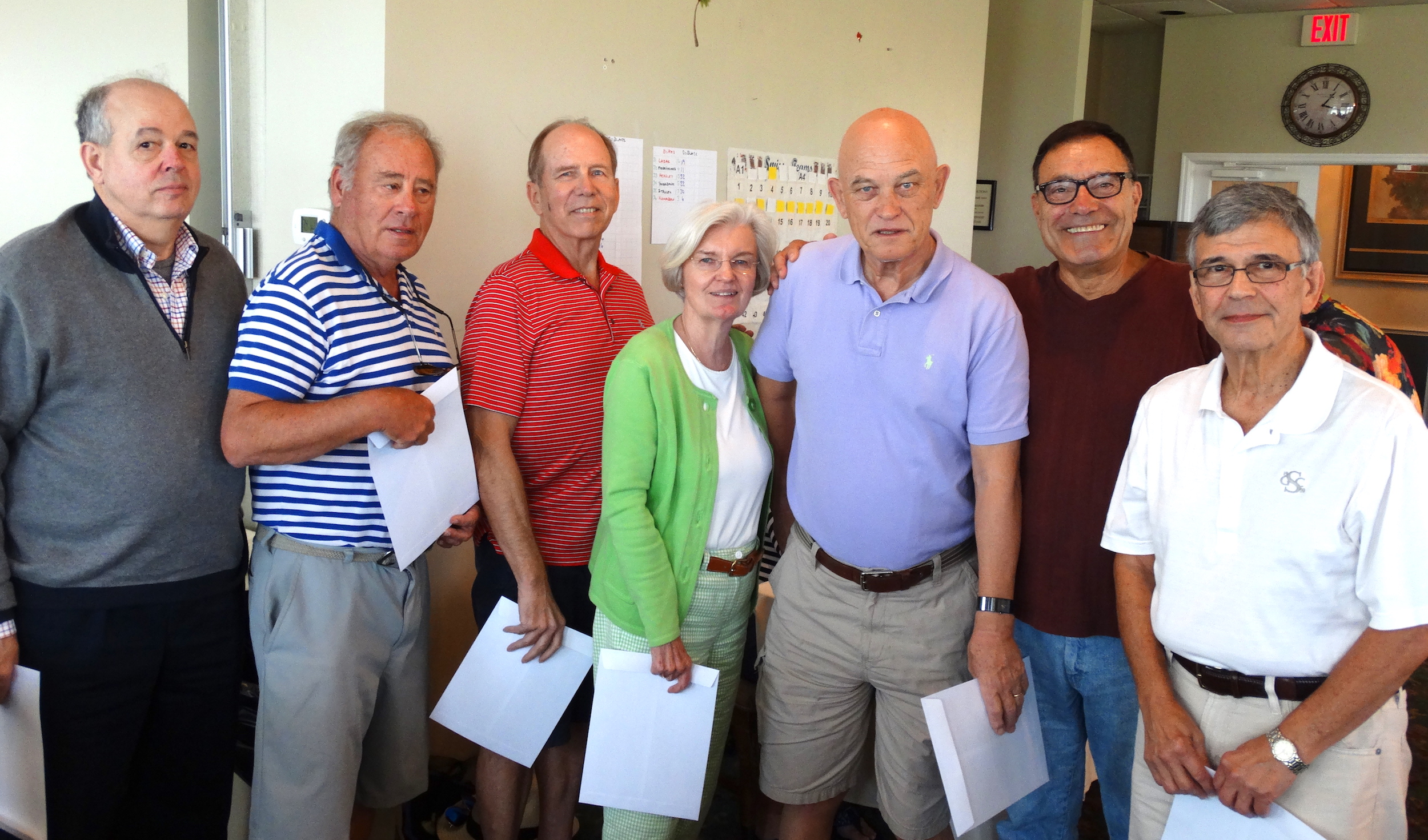 Ace of Clubs Winners - Les Bart, Ed Spear, Mike Gibson, Linda Patton, Vic Lawrence, Bob D'Avanzo, Marvin Greene